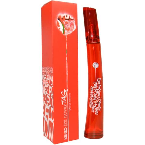 62c2d6d09 Shop Kenzo Flower Tag Women's 3.4-ounce Eau de Toilette Fragrance Spray -  Free Shipping Today - Overstock - 6491592
