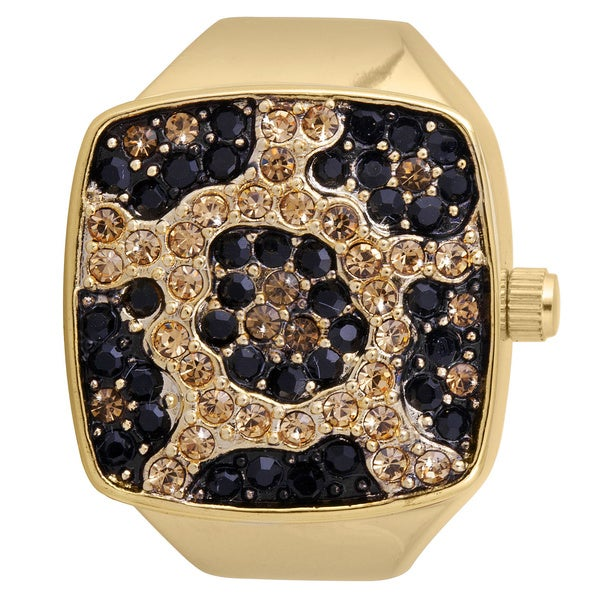 Vernier Women's V900 Leopard Print Ring Watch