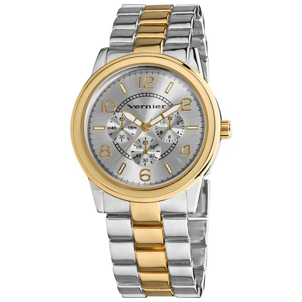 Vernier Women's V207 Round Two Tone Chrono Look Bracelet Watch