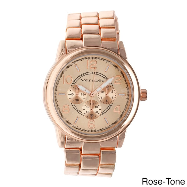 Vernier Women's V205 Round Chrono Look Bracelet Watch