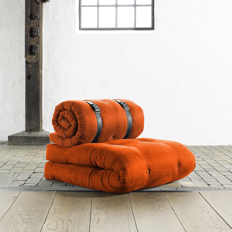 Fresh Futon 'Buckle Up' Orange Futon Chair