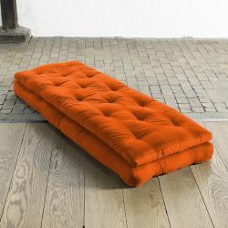 Fresh Futon 'Buckle Up' Orange Futon Chair - Thumbnail 1