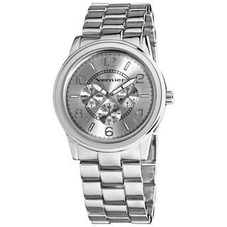 Vernier Women's V201 Round Silver Tone Crono Look Bracelet Watch