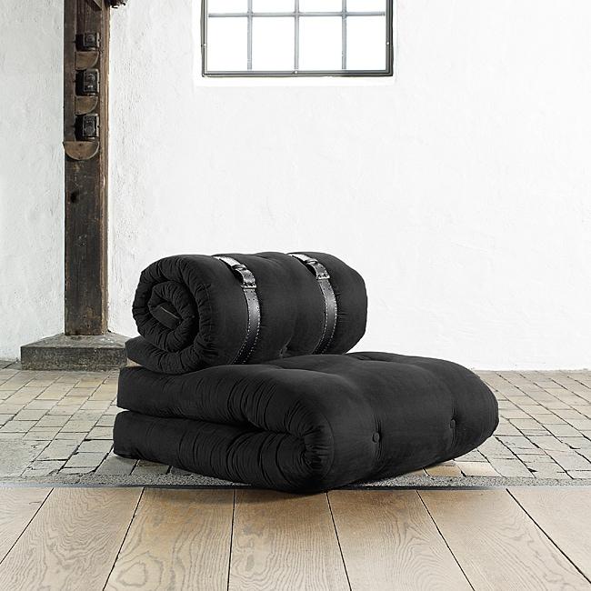 Fresh Futon Buckle Up Black Futon Chair Free Shipping