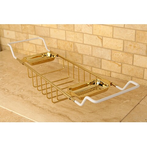 Polished Brass Clawfoot Tub Caddy