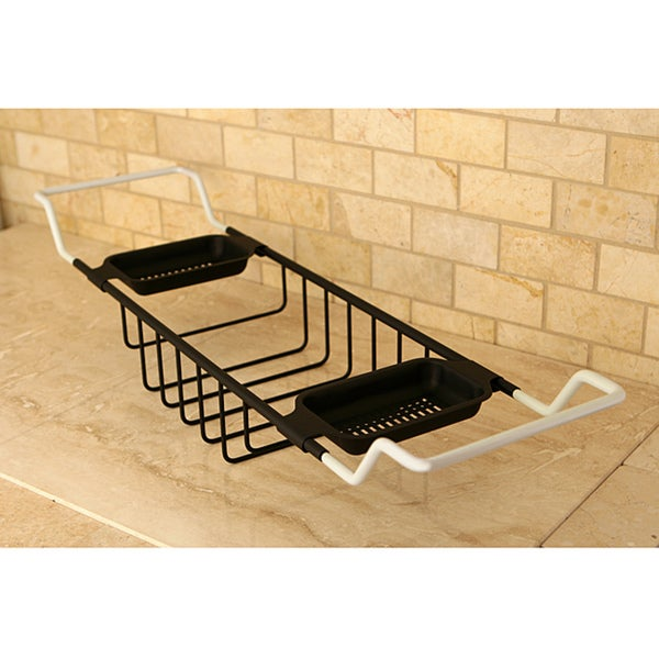 Oil Rubbed Bronze Solid Brass Bathtub Shelf - Free Shipping Today ...