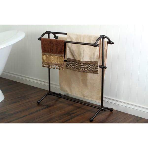 Vintage Pedestal Solid Brass Towel Stand