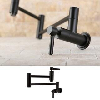 oil rubbed bronze wallmount potfiller kitchen faucet