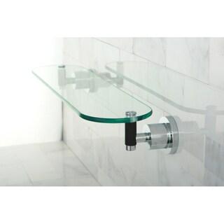 Chrome Bathroom Glass Shelf