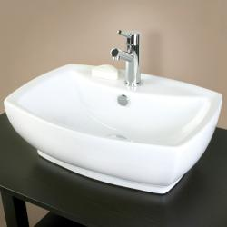 Rectangular Vitreous China Vessel Bathroom Sink - Thumbnail 1