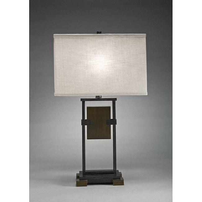 Aztec Lighting Transitional 1-light Cambridge Bronze Table Lamp