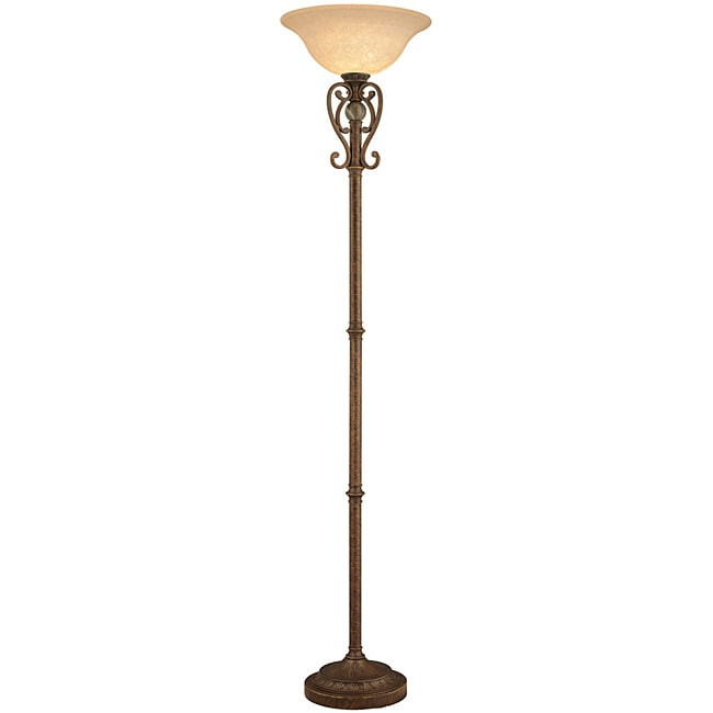 Aztec Lighting Traditional 1-light Golden Bronze Torchiere