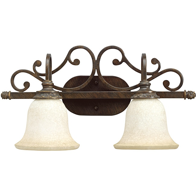 Aztec Lighting Traditional 2-light Golden Bronze Wall Sconce