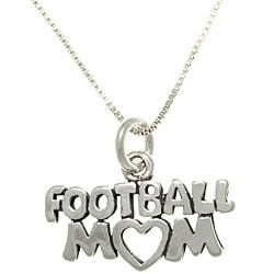 Carolina Glamour Collection Sterling Silver Football Mom Talking Necklace