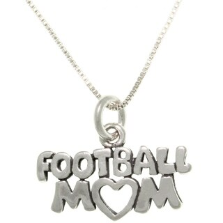 Sterling Silver Football Mom Talking Necklace