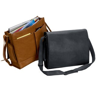 'The Associate' Flap Over 15.6-inch Leather Laptop Messenger Bag