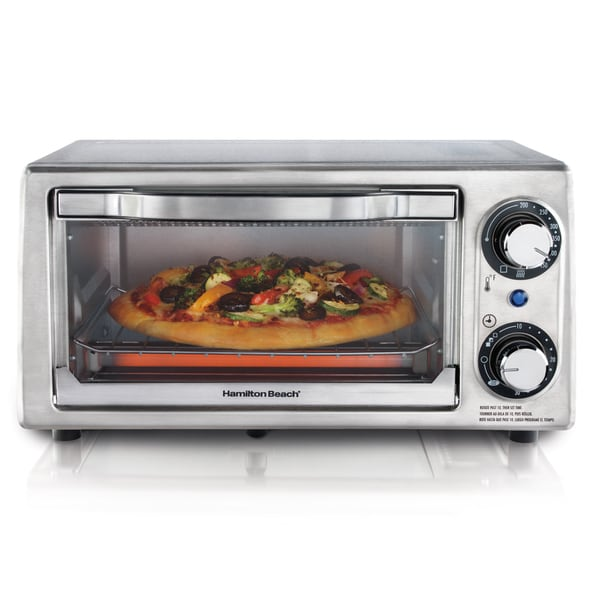 Hamilton Beach Stainless Steel 4-slice Toaster Oven w/ Broiler