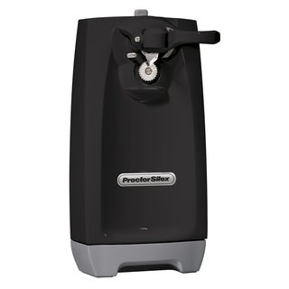 Proctor Silex Black Extra-Tall Can Opener with Knife Sharpener