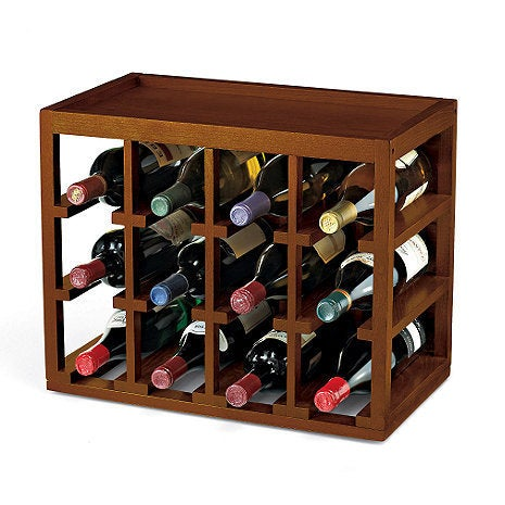 Wine (Red) Enthusiast 12-bottle Cube Stack Wine Rack