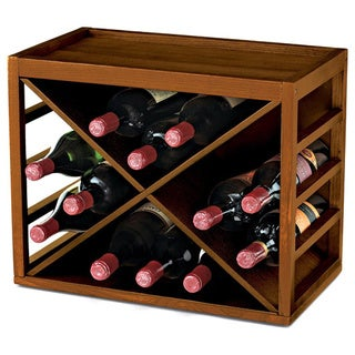 Wine Enthusiast Cube Stack X-Style Wine Rack