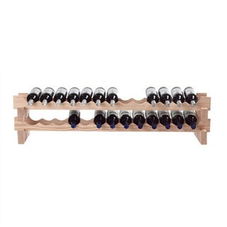 Wine Enthusiast 26-bottle Stackable Natural Wine Rack Kit