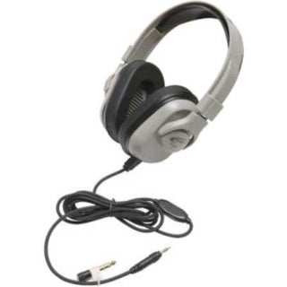 Califone Washable Headphone, 3.5mm, In-line Volume, Via Ergoguys