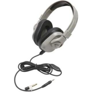 Califone Washable Headphone, 3.5mm, In-line Volume, Via Ergoguys