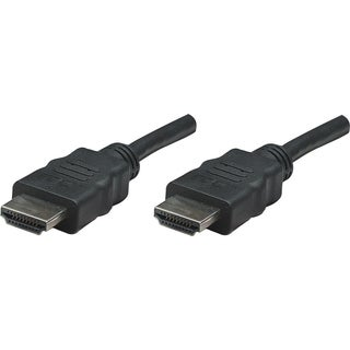 Manhattan HDMI Male to Male High Speed Shielded Cable, 25', Black