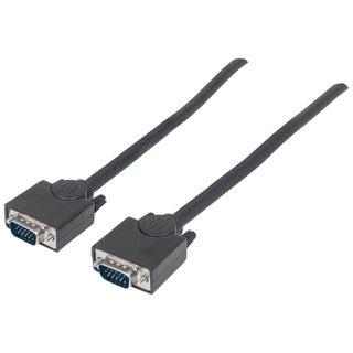 Manhattan SVGA HD15 Male to HD15 Male Monitor Cable, 15', Black