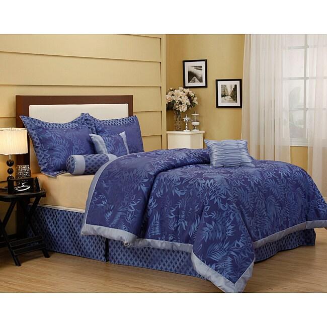 Ruskins Blue Flower 7-piece Comforter Set