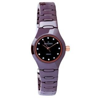Skagen Women's 816XSDXC1 Denmark Petite Brown Ceramic Watch