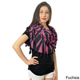 LA77 Women's Colorful Zebra-print Scarf