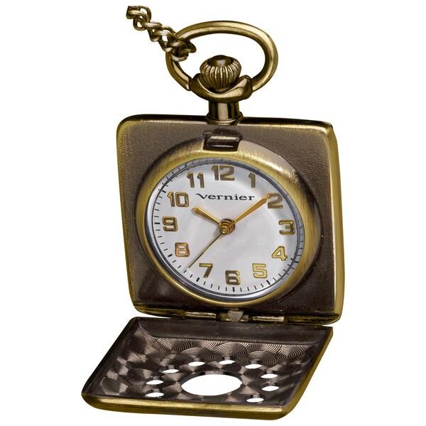 Vernier Women's 'V055' Square Pendant Timepiece