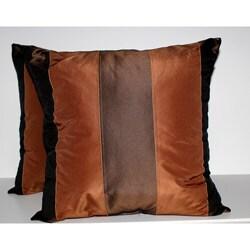 RLF Home Pascal Stripe Cognac Decorative Pillows (Set of 2)