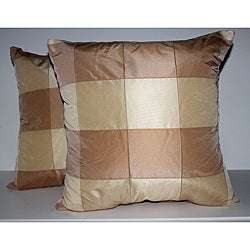 RLF Home Pascal Check Formosa Decorative Pillows (Set of 2)