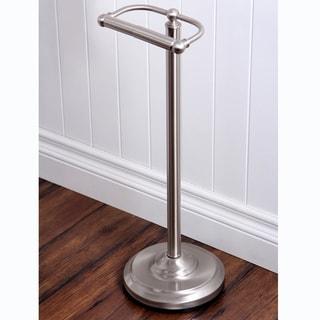 Brushed Nickel Standing Pedestal Toilet Paper Holder