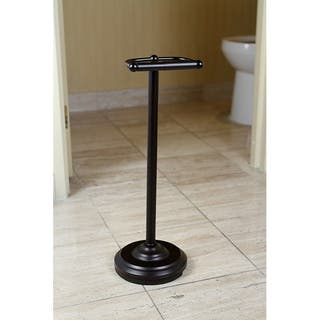 Pedestal Oil-rubbed Bronze Standing Toilet Paper Holder|https://ak1.ostkcdn.com/images/products/6493715/6493715/Pedestal-Oil-Rubbed-Bronze-Standing-Toilet-Paper-Holder-P14084632.jpg?impolicy=medium