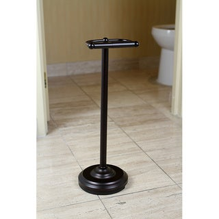Pedestal Oil-rubbed Bronze Standing Toilet Paper Holder