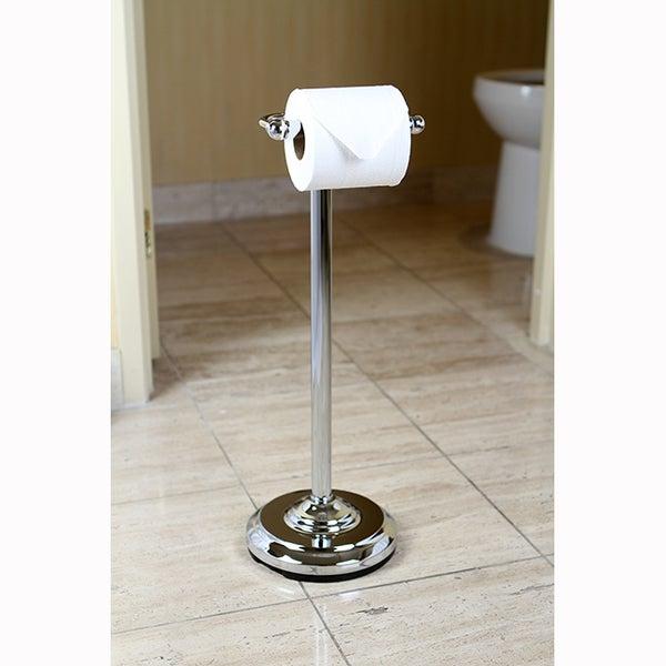 Rok Toilet Paper Roll Holder Bath Home Accessory Decor Chrome Metal Wall Mount