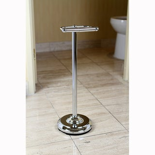 Pedestal Chrome Standing Toilet Paper Holder