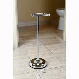 Pedestal Chrome Standing Toilet Paper Holder