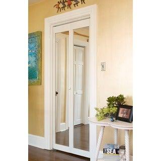 907 traditional 36inchwide unfinished naturalpine bifold mirror doors