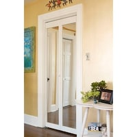 907 Traditional 36-Inch-Wide Unfinished Natural-Pine Bifold Mirror ...