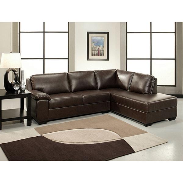 Shop Abbyson Living Pearce Dark Brown Bonded Leather