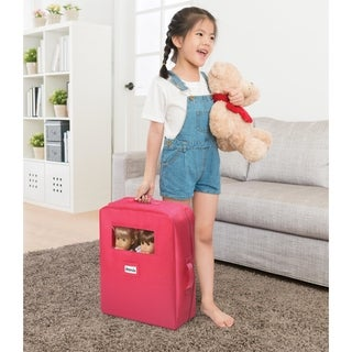 Badger Basket Double Doll Travel Case with Bunk Bed and Bedding - Pink