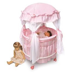 Badger Basket Royal Pavilion Round Doll Crib Set - Thumbnail 2