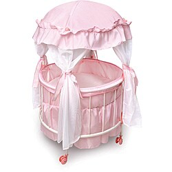 Badger Basket Royal Pavilion Round Doll Crib Set