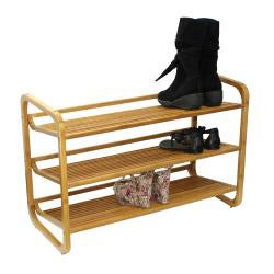 Oceanstat 3-tier Bamboo Shoe Rack
