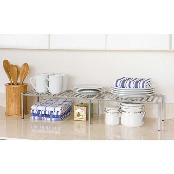 Seville Classics Expandable Iron Kitchen Counter Shelf