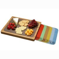 Seville Classics Bamboo Cutting Board with Cutting Sheets